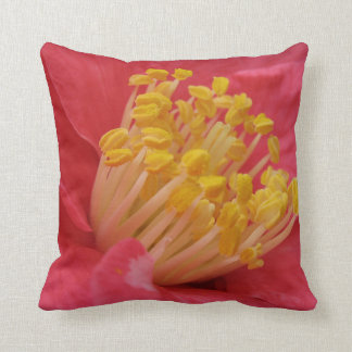 Bold Pink and Yellow Flower Pillow