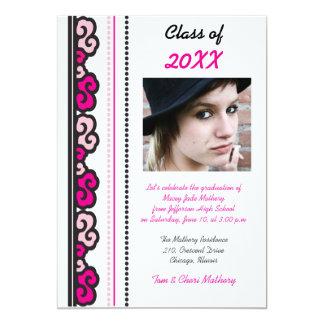 Bold Pink -Graduation Party Invites