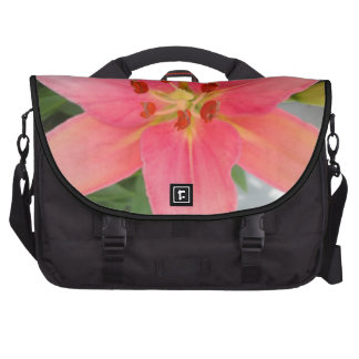 Bold Pink Lily Flower Commuter Laptop Bag