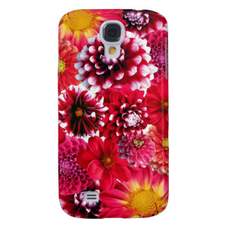 Bold Pink Magenta Dahlia Flowers Floral Collage Galaxy S4 Cover