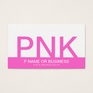 bold PINK monograms Business Card