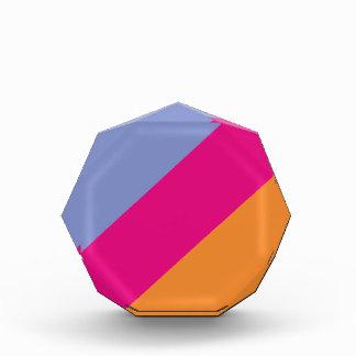 Bold Pink Purple Orange and Tan Stripes Pattern Award