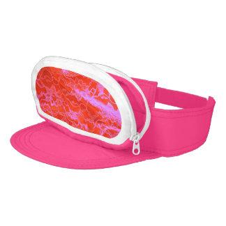Bold Pink Silk Visor