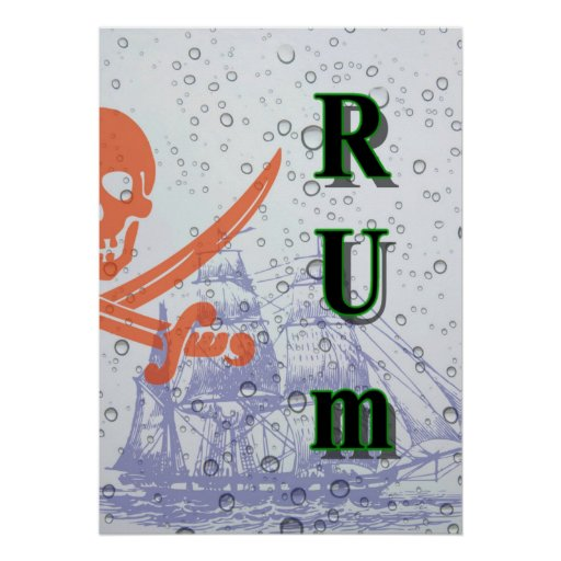 Bold Pirate Rum 20x28 poster. Poster