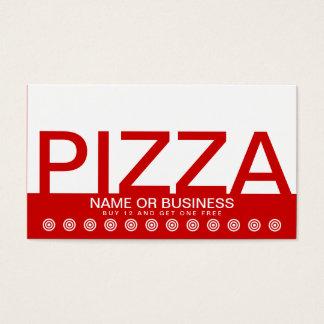 bold PIZZA customer loyalty card