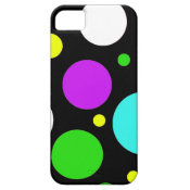 Bold Polka Dots Purple Teal Green Black Yellow iPhone 5 Covers