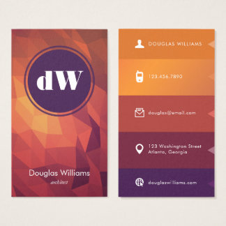 Bold Polygonal Business Card