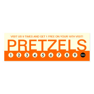 bold PRETZELS customer loyalty Double-Sided Mini Business Cards (Pack Of 20)