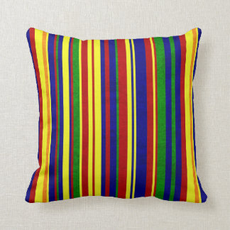 Bold Primary Pops of Color Stripe Pillow