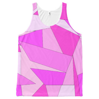 Bold Prink Abstract Print Unisex Tank Top All-Over Print Tank Top