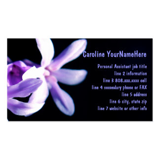 Bold Purple and Black Double-Sided Standard Business Cards (Pack Of 100)