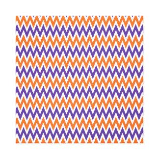 Bold Purple and Orange Chevron Zigzag Pattern Canvas Print