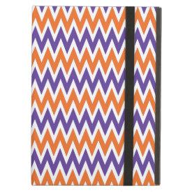 Bold Purple and Orange Chevron Zigzag Pattern iPad Case