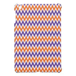 Bold Purple and Orange Chevron Zigzag Pattern Case For The iPad Mini