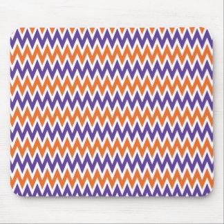 Bold Purple and Orange Chevron Zigzag Pattern Mouse Pad