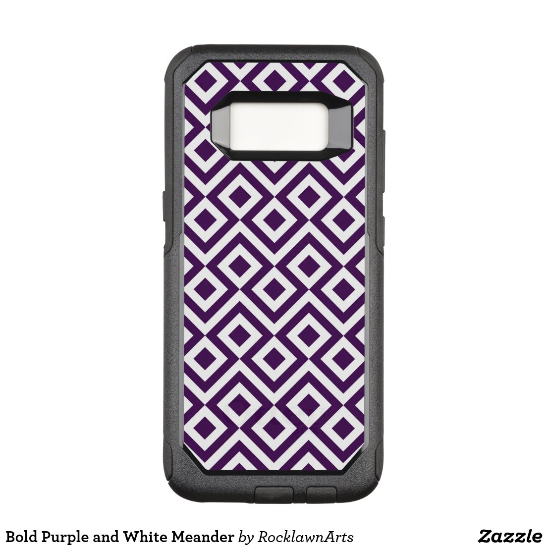 Bold Purple and White Meander OtterBox Commuter Samsung Galaxy S8 Case