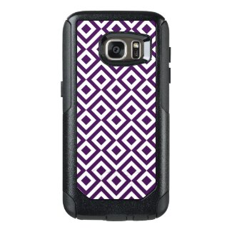 Bold Purple and White Meander OtterBox Samsung Galaxy S7 Case
