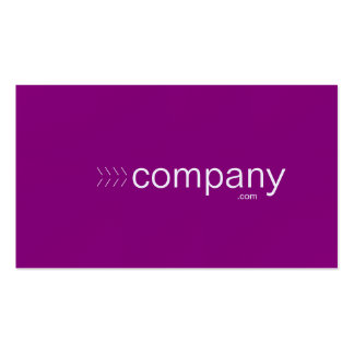 Bold purple business card with website