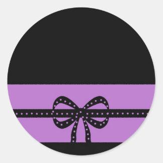 bold purple classic round sticker