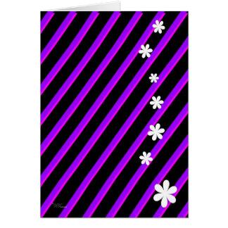 Bold Purple Flowers Greeting Card