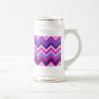 Bold Purple Pink Tribal Chevron Purple Girly Gifts Beer Stein