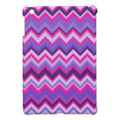 Bold Purple Pink Tribal Chevron Purple Girly Gifts iPad Mini Case