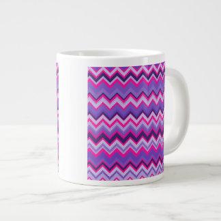 Bold Purple Pink Tribal Chevron Purple Girly Gifts Large Coffee Mug