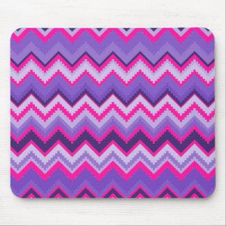 Bold Purple Pink Tribal Chevron Purple Girly Gifts Mouse Pad