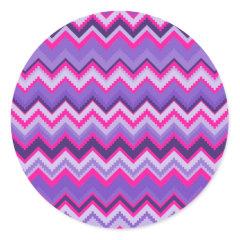 Bold Purple Pink Tribal Chevron Purple Girly Gifts Stickers
