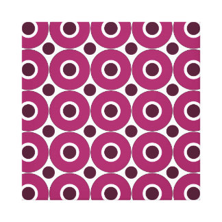 Bold Purple Polka Dots Concentric Circles Pattern Canvas Print