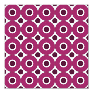 Bold Purple Polka Dots Concentric Circles Pattern Card