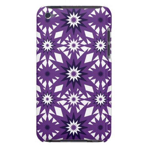 Bold Purple Star Pattern Starburst Design iPod Touch Cases