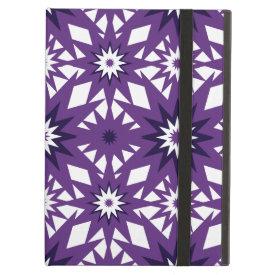 Bold Purple Star Pattern Starburst Design iPad Cover
