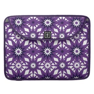 Bold Purple Star Pattern Starburst Design Sleeve For MacBooks
