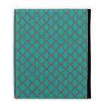 Bold Quatrefoil Pattern in Green and Brown iPad Cases