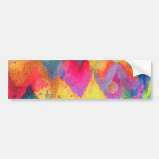 Bold Quotation in Neons 2, Rainbow Chevron Ikat Bumper Sticker