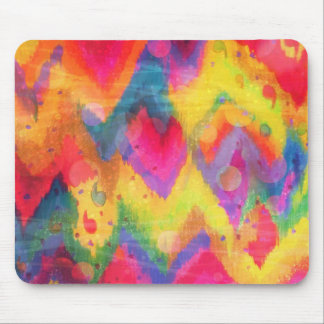 Bold Quotation in Neons 2 Rainbow Chevron Ikat Mouse Pad