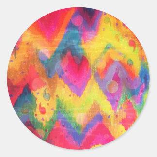 Bold Quotation in Neons 2, Rainbow Chevron Ikat Sticker