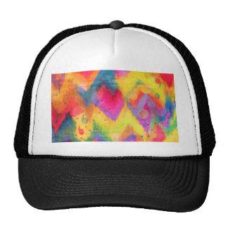 Bold Quotation in Neons 2, Rainbow Chevron Ikat Trucker Hat