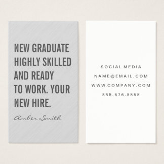 Bold Quote Gray Texture Business Card