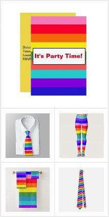 Bold Rainbow Stripes Party Items