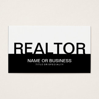 bold REALTOR (color customizable) Business Card