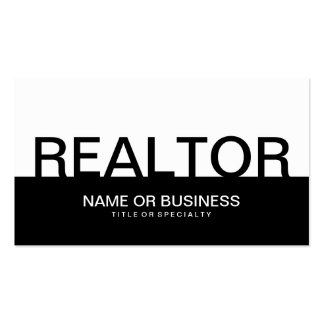 bold REALTOR (color customizable) Double-Sided Standard Business Cards (Pack Of 100)