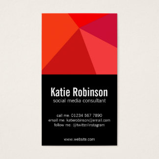 Bold red and black minimalist business card