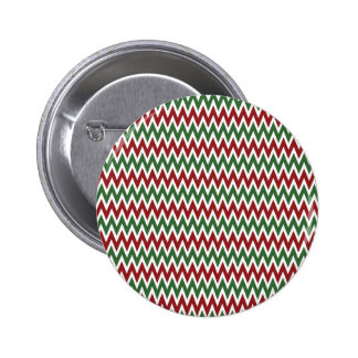 Bold Red and Green Christmas Chevron Zigzags Pins