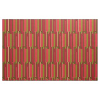 Bold Red and Green Stripes Fabric