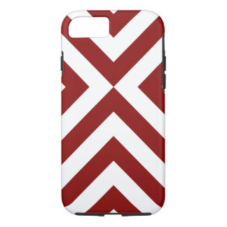 Bold Red and White Chevrons iPhone 7 Case