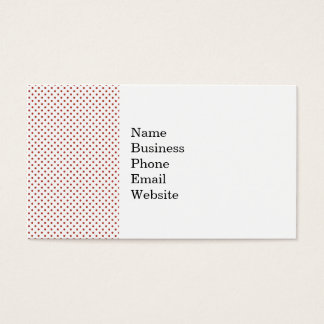 Bold Red Circles on White Pattern Business Card