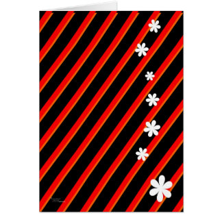 Bold Red Flowers Stationery Note Card