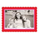 "Bold Red Frame Valentine's Day Flat Photo Card 5"" X 7"" Invitation Card"